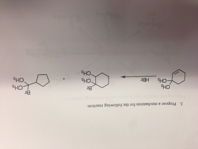 Propose a mechanism for the following reaction: D