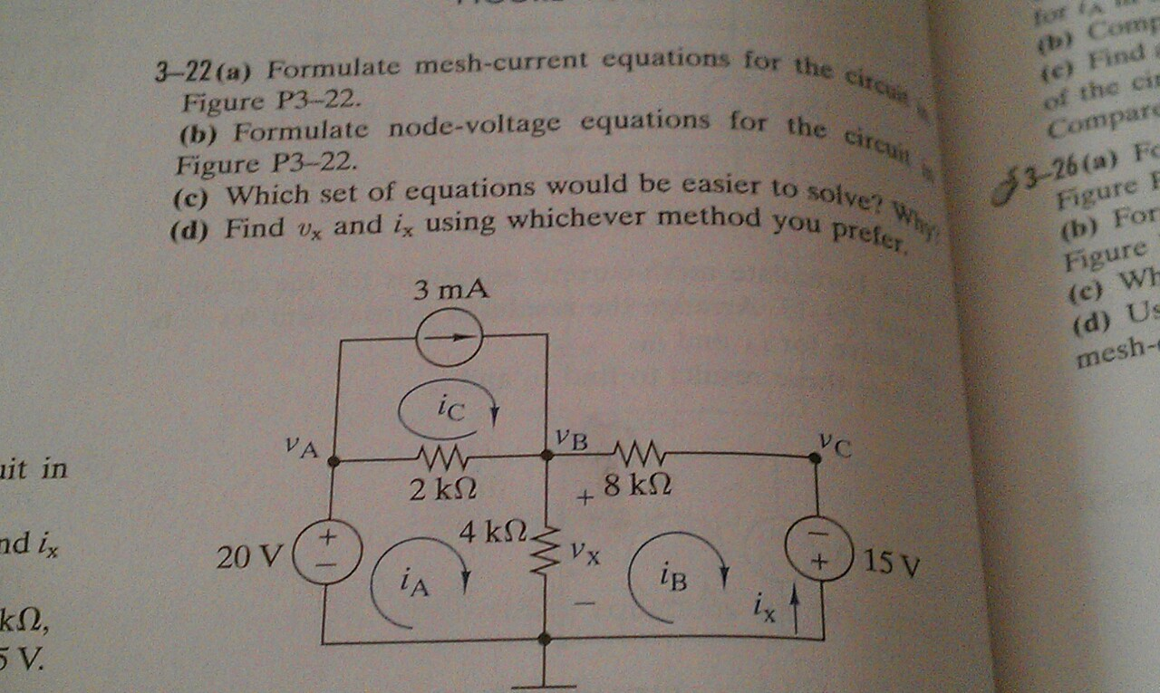 Formulate mesh-current equation-, for the circuit