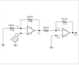 The input voltage of the circuit shown in figure i