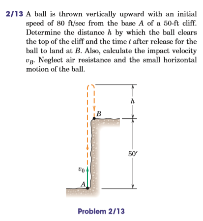 upward initial velocity A ball is thrown upward with an initial velocity of 120 m/s at an angle of 500 deg  above the horizontal - use energy conservation to find the ball's greatest.