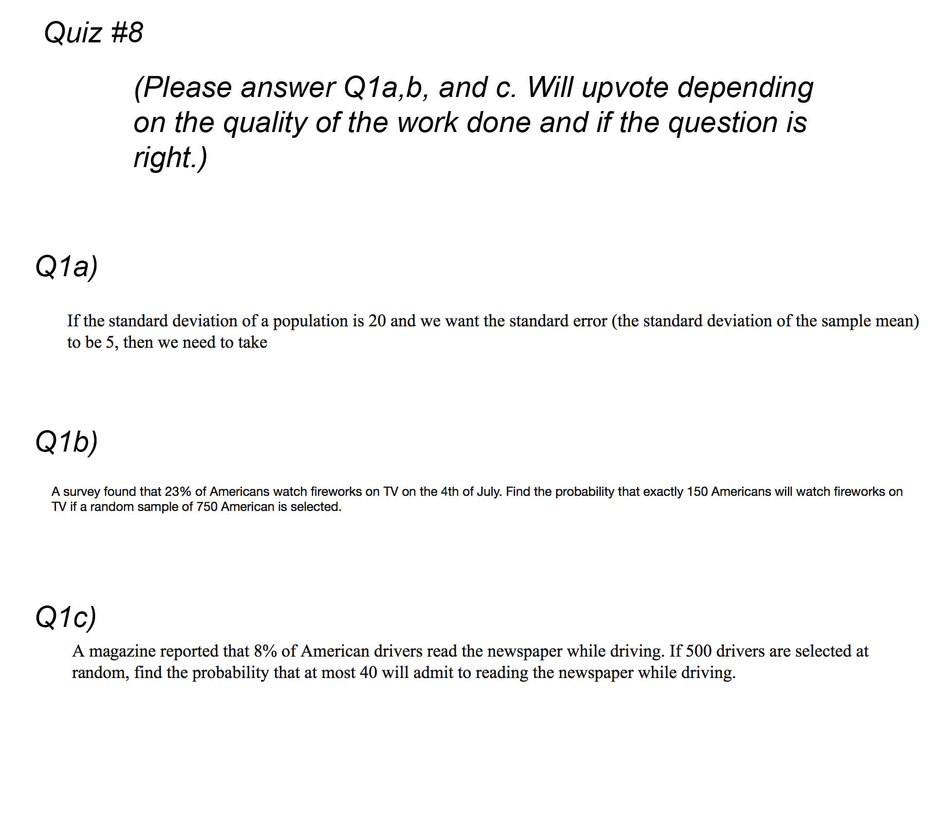 Question: If The Standard Deviation Of A Population Is 20 An If The Standard  Deviation