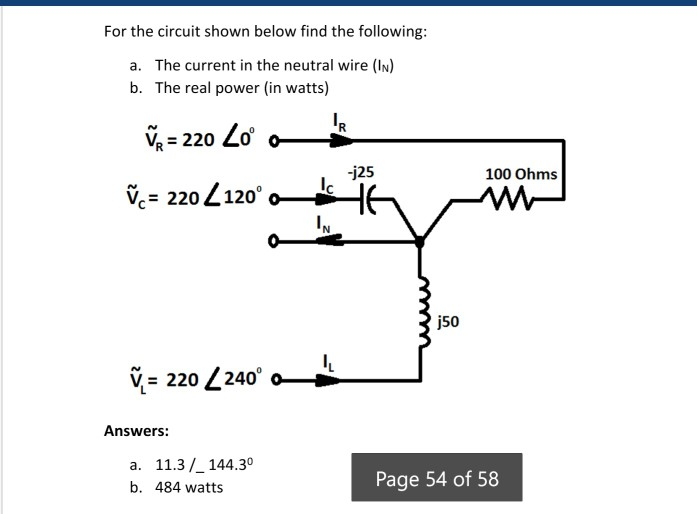 Solved: For The Circuit Shown Below Find The Following A ...