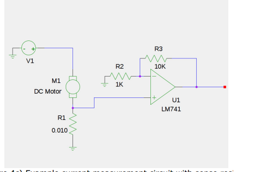 If a 10 milliohm current shunt is in series with a