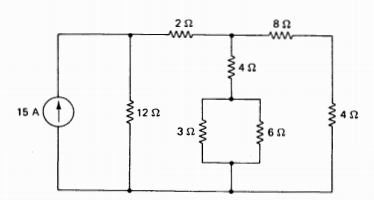 Consider the dc resistive circuit shown, and deter