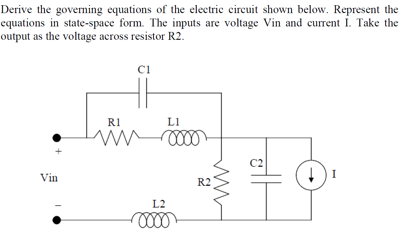 Derive the governing equations of the electric cir