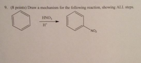 Draw a mechanism for the following reaction. showi