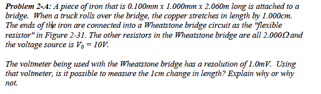 A Piece of iron that is 0.100mm x 2.060m long is a