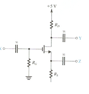 An enhancement NMOS transistor is connected in the