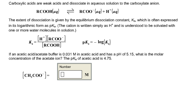 If An Acetic Acid/acetate Buffer Is 0.031 M In Ace... | Chegg.com