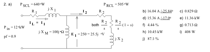 A 3-phase induction motor is Y-connected to a 480-