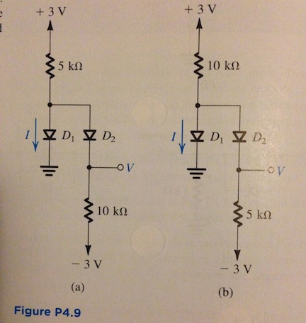 find the values of the labeled voltages and curren