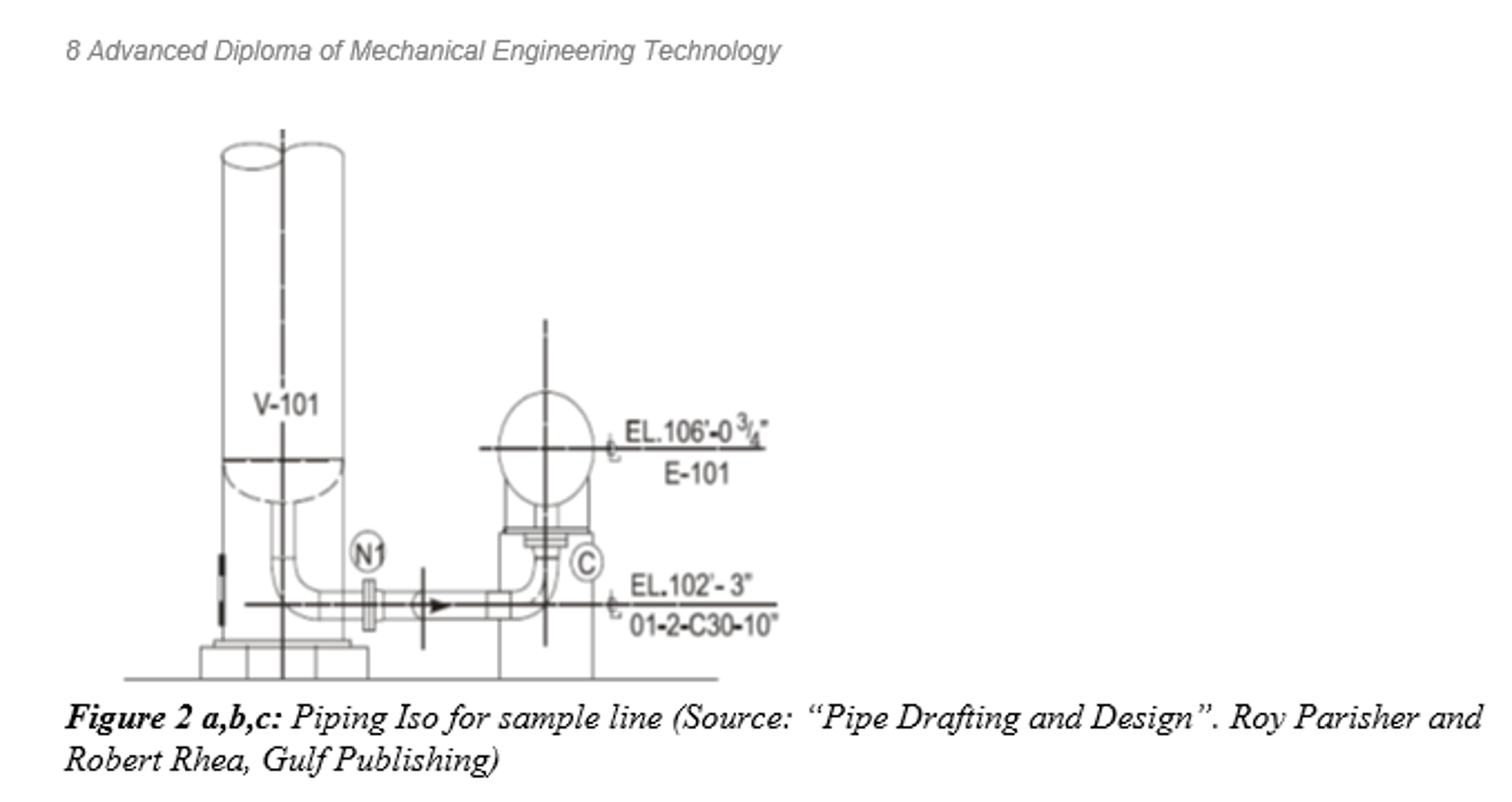 Draw the piping isometric for the sample line show chegg consult the standards and create a bill of materials a piping line list and a piping specification assume a corrosion allowance of 2mm is required and the pooptronica Image collections