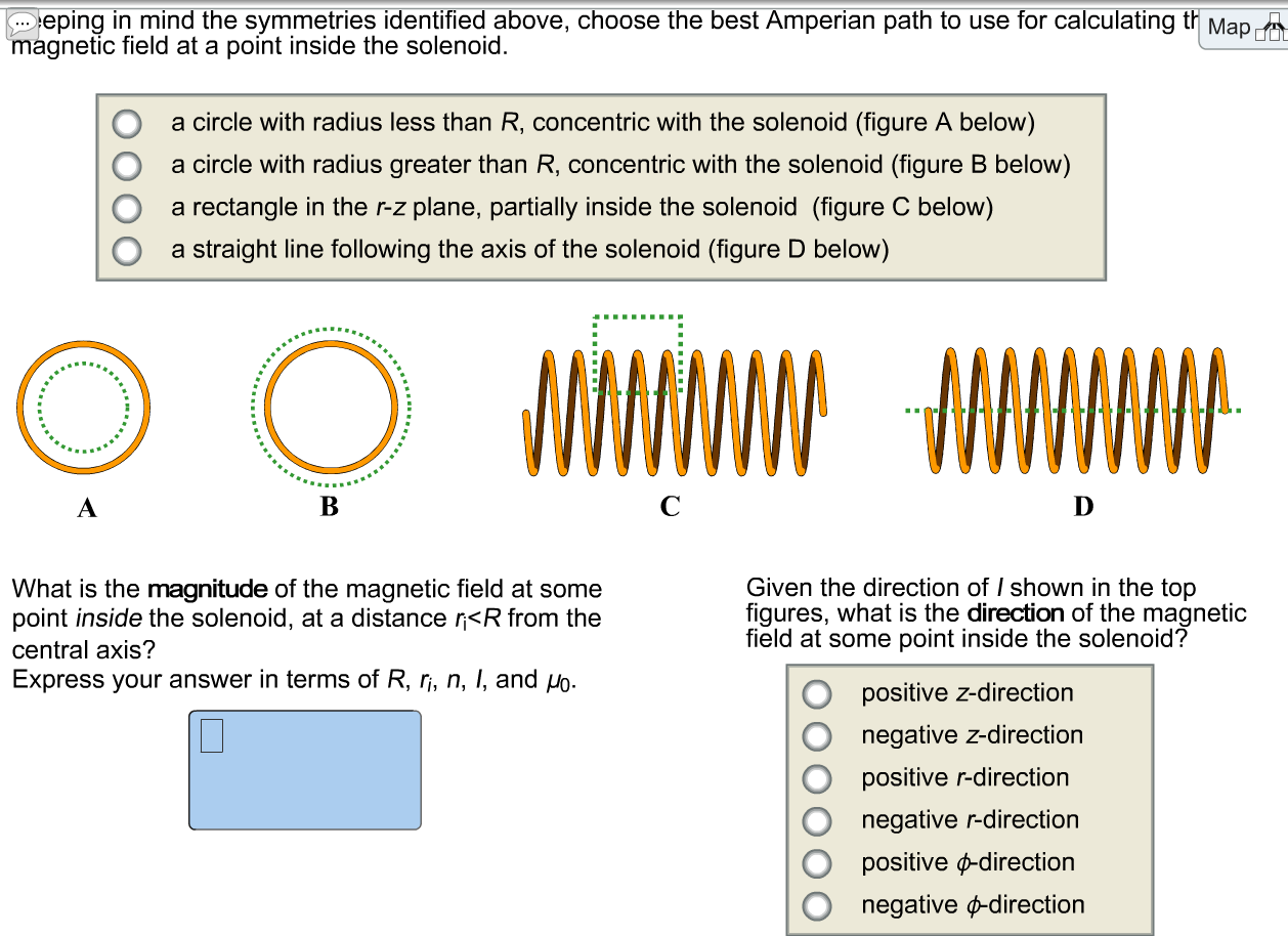 Solved consider a long solenoid consisting of a coil of w consider a long solenoid consisting of a coil of wire with radius r and n turns per unit length the solenoid carries a current i as shown in the figures keyboard keysfo Images