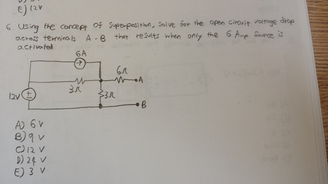 Using the concept of Superposition, solve for the