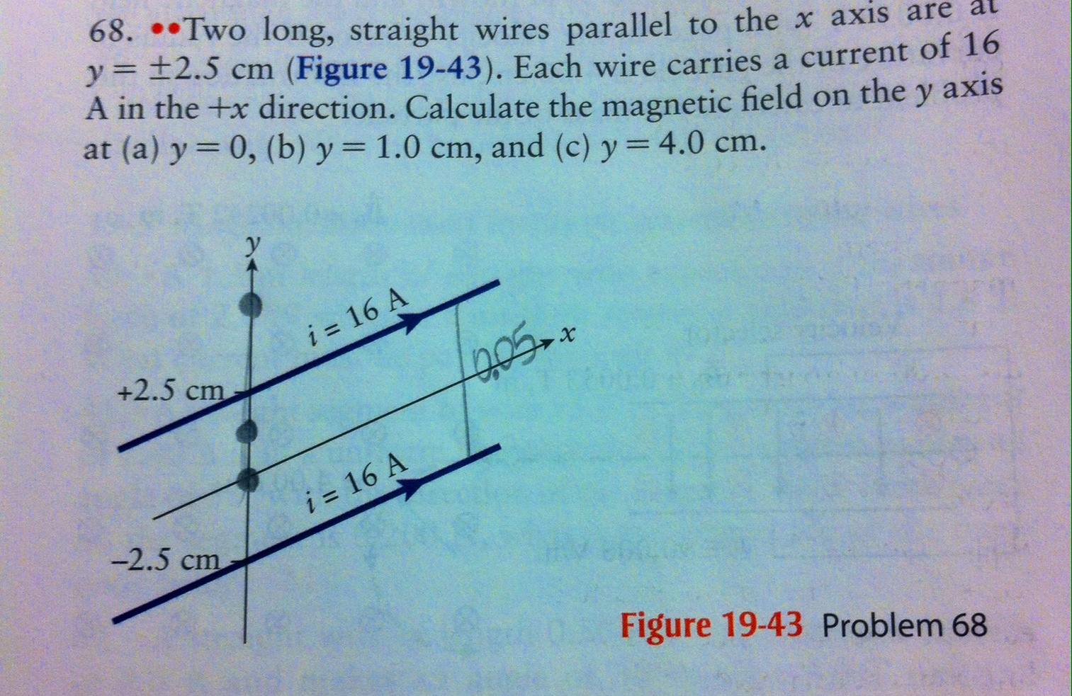 Solved: 68. Two Long, Straight Wires Parallel To The X Axi ...