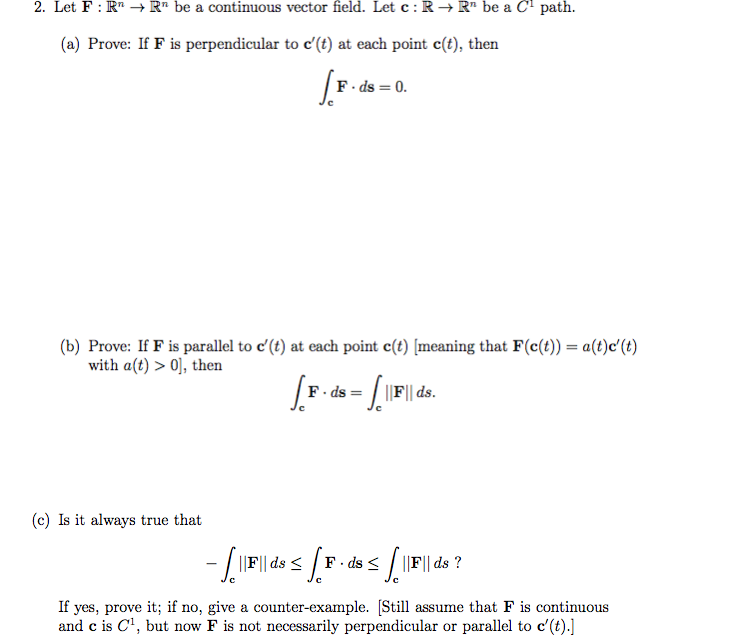 Solved: Let F: R^n Rightarrow R^n Be A Continuous Vector F ...