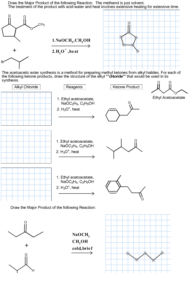Scribble Drawing Questions : Solved draw the major product of following reaction