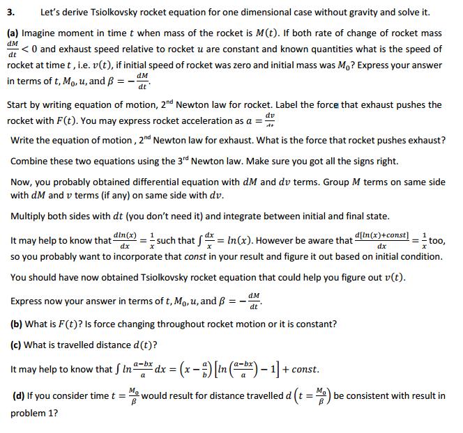 Tsiolkovsky Rocket Equation