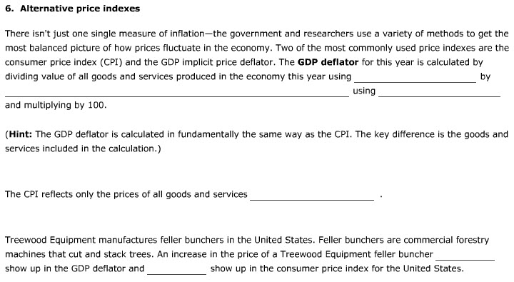 Macroeconomic measurements, various definitions I