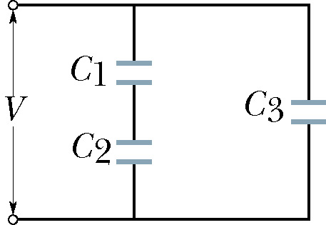 In the figure find the equivalent capacitance of t