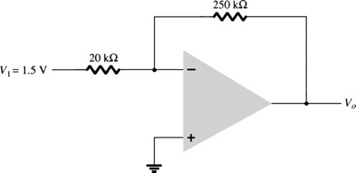 What is the output voltage in the circuit shown be