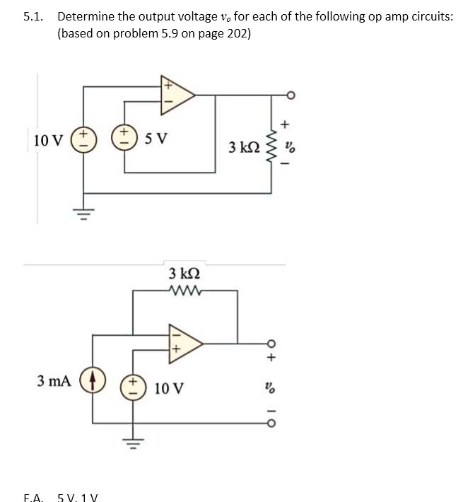 Determine the output voltage vo for each of the fo