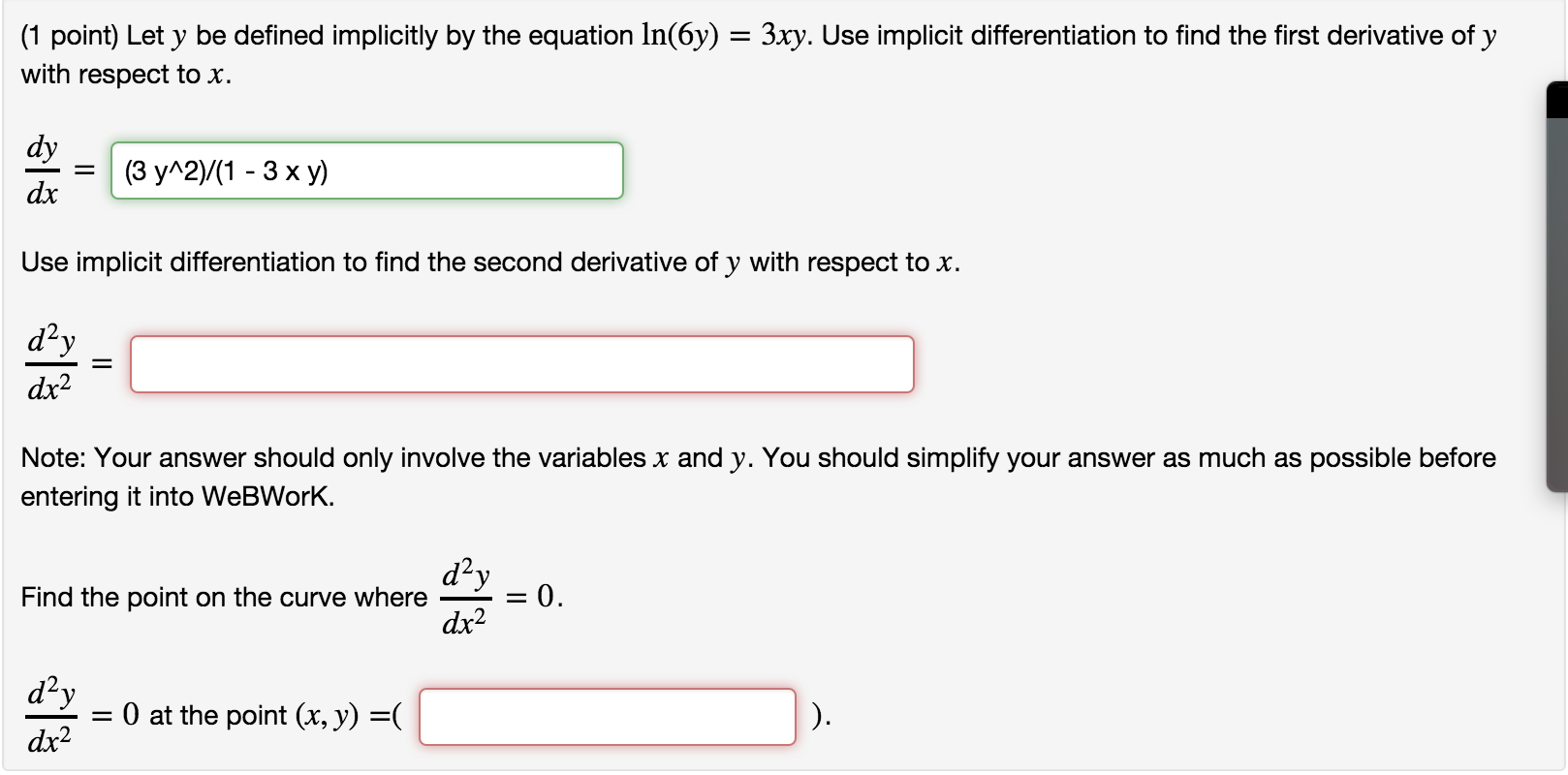 Implicit differentiation homework help