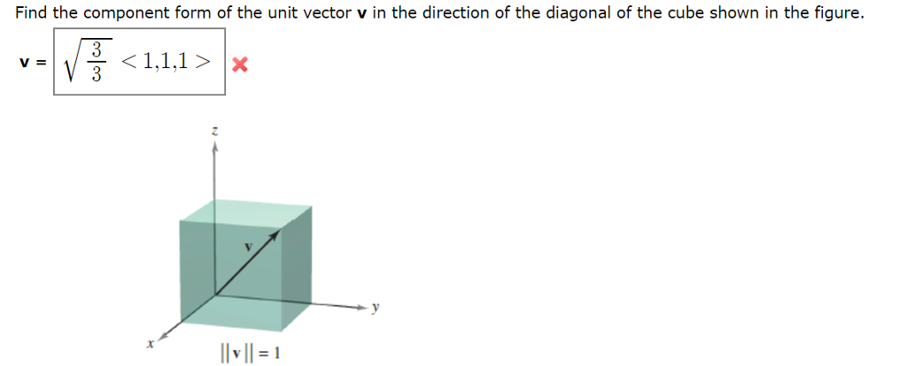 Find The Component Form Of The Unit Vector V In Th... | Chegg.com