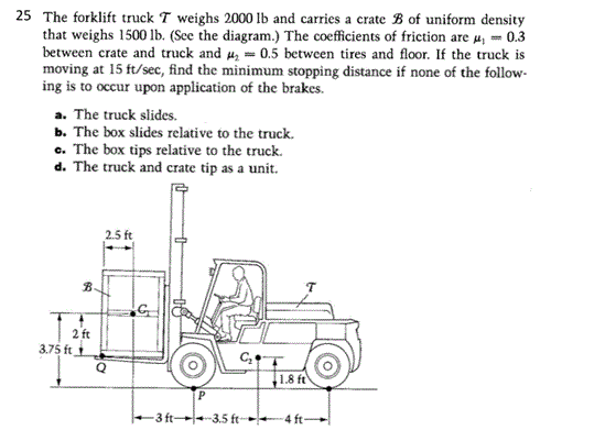The Forklift Truck T Weighs 2000 Lb And Carries A