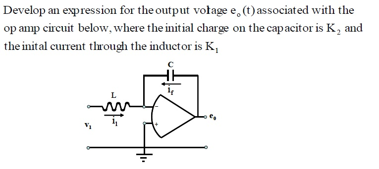 Develop an expression for the output voltage eo(t)