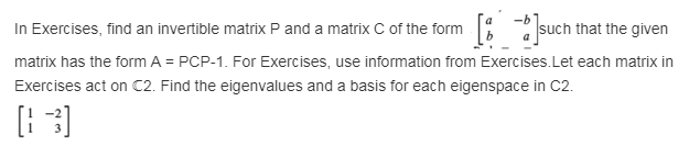 In Exercises, Find An Invertible Matrix P And A Ma... | Chegg.com
