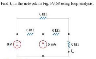 Find Ic in the network in Fig P3.68 using loop ana