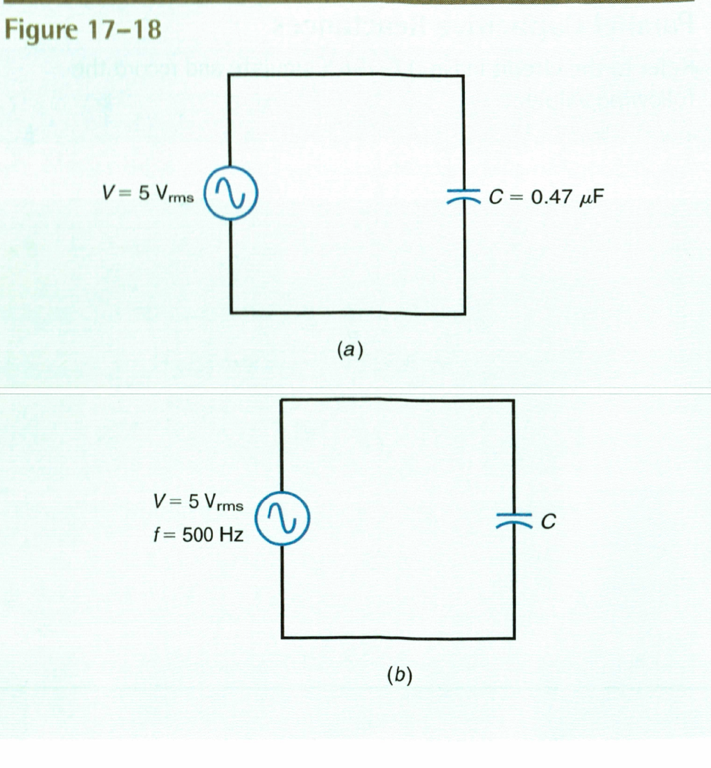 Build the circuit in Fig 17-18a using multisim Set