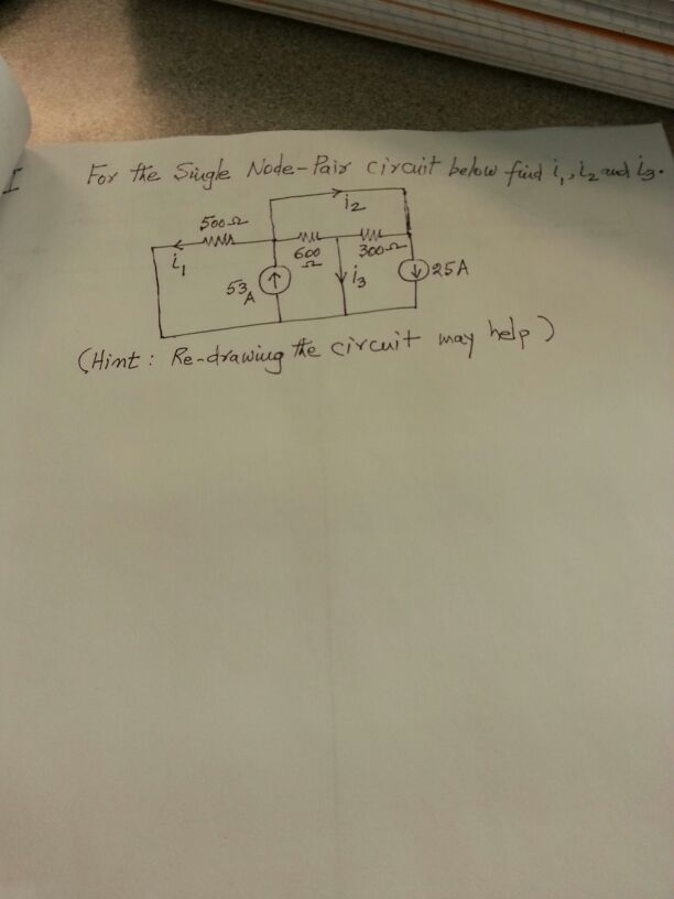 For the single Node-Pair circuit below filed i1, i