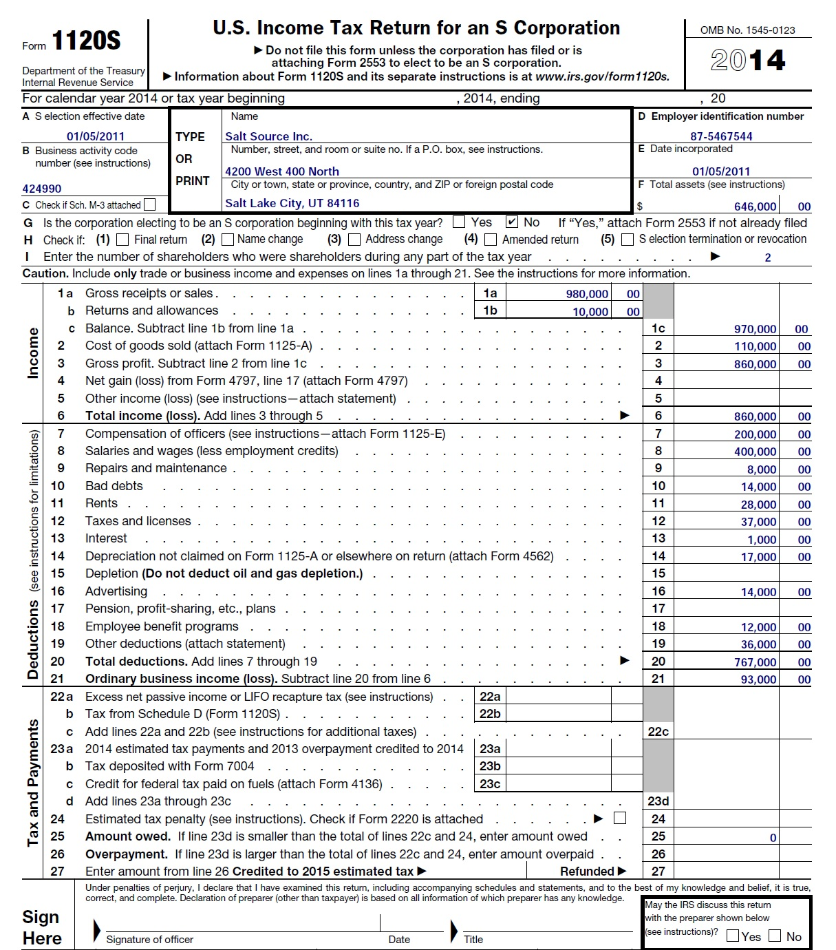 I calculate only 6k of accounts receivables writt chegg here is the s corp return and k 1 of kim bentley falaconquin