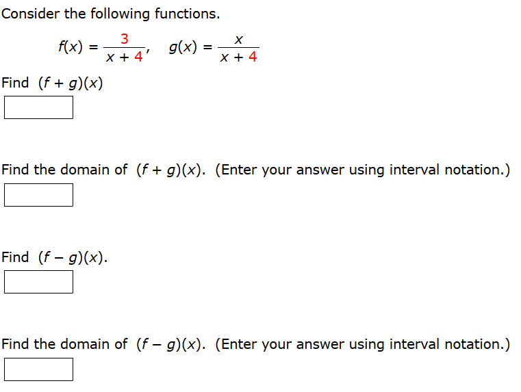 Consider The Following Functions. Find The Domain ... | Chegg.com