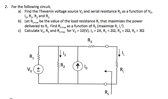 For the following circuit, Find the Thevenin vol