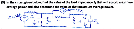 In the circuit given below, find the value of the