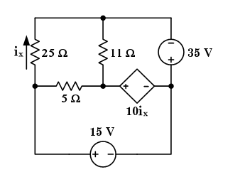 Given: The circuit shown above has a current-con