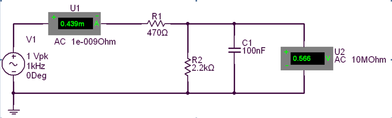Do a hand analysis of the circuit in Fig. 1 solvin