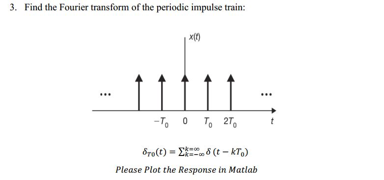 Find the Fourier transform of the periodic impulse