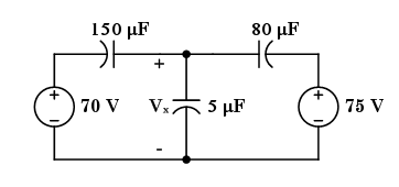 Given: The circuit shown above is operating in ste