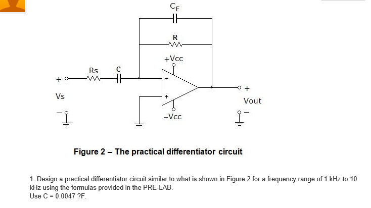 The practical differentiator circuit Design a pra