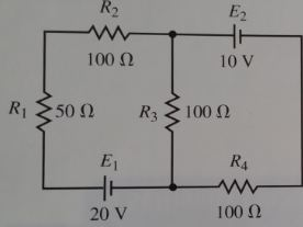 using the circuit below, use superposition to calc