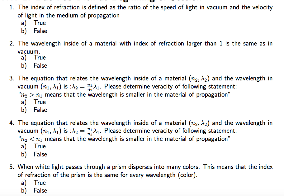 The Index Of Refraction Is Defined As Ratio Speed Light