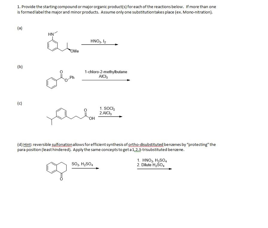 Homework help with organic chemistry
