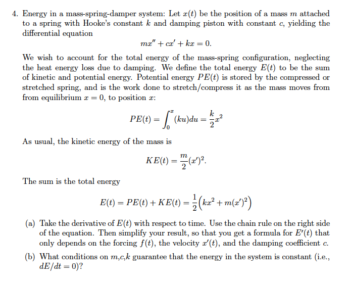 mass damper system differential equations in Mass spring system equation help learn more about differential equations, curve fitting, parameter estimation, dynamic systems.