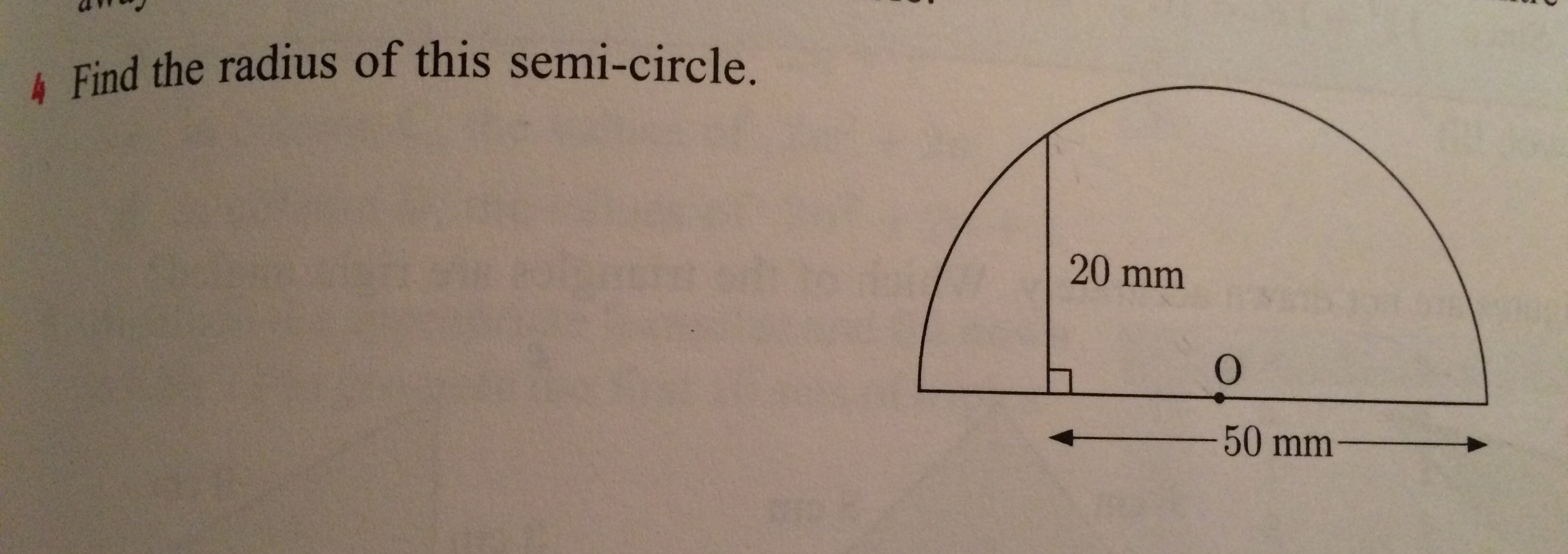 4 find the radius of this semi circle chegg find the radius of this semi circle ccuart Gallery