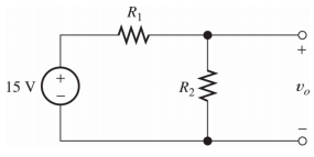 Write and expression for the voltage across R2. If