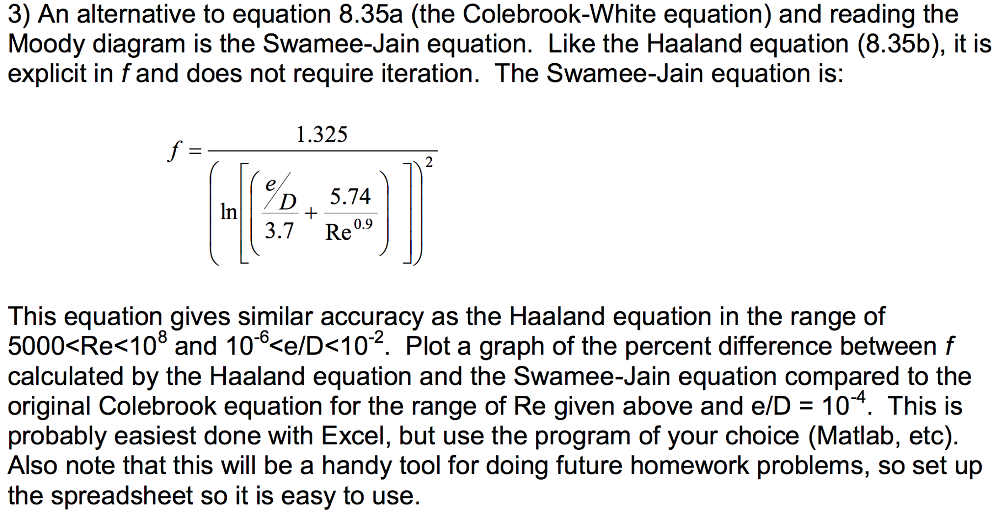 An alternative to equation 835a the colebrook wh chegg an alternative to equation 835a the colebrook wh ccuart Images